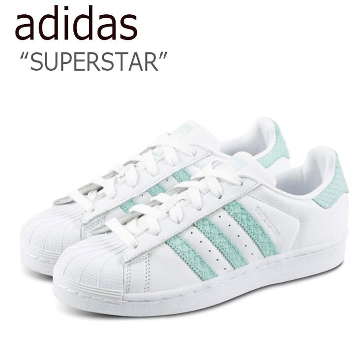 アディダス スーパースター スニーカー adidas メンズ レディース SUPERSTAR WHITE BLUE ホワイト ブルー CG5461 シューズ 【中古】未使用品