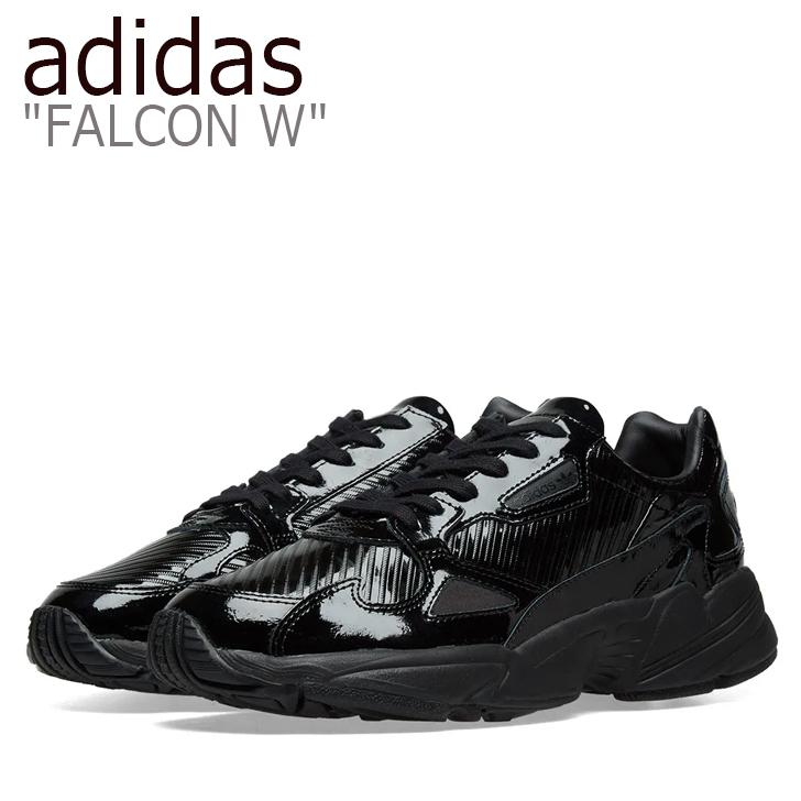 アディダス ファルコン スニーカー adidas レディース FALCON W ファルコンウーマン ダッドシューズ BLACK ブラック CG6248 シューズ 【中古】未使用品