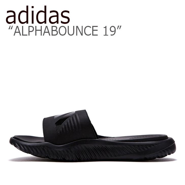 アディダス スリッパ adidas メンズ レディース ALPHABOUNCE 19 アルファバウンス 19 BLACK ブラック B41720 FLAD9S1U38 シューズ 【中古】未使用品