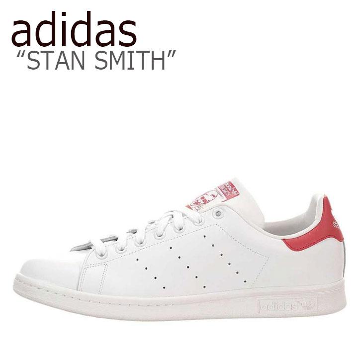 アディダス スタンスミス スニーカー adidas メンズ レディース STAN SMITH スタンスミス WHITE RED ホワイト レッド M20326 シューズ 【中古】未使用品