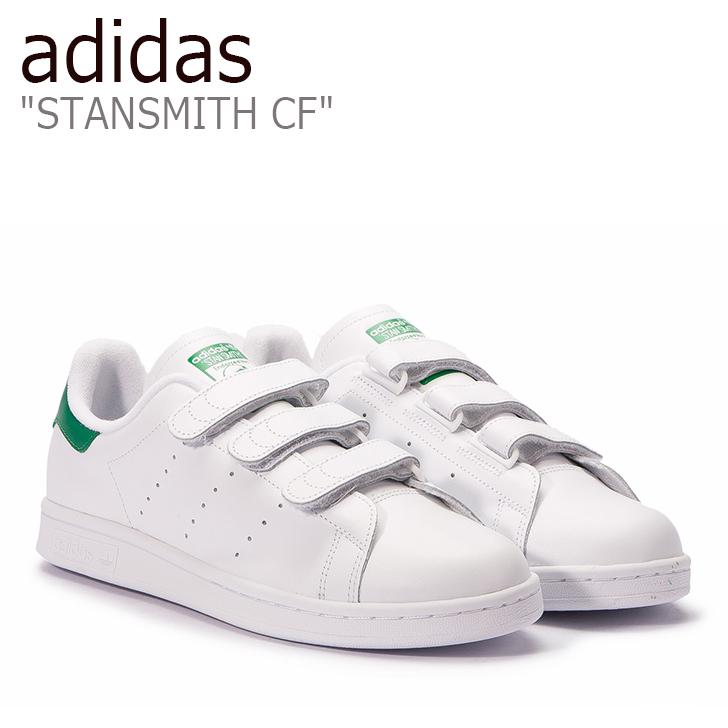 アディダス スタンスミス スニーカー adidas メンズ レディース STANSMITH CF ベルクロ White ホワイト S75187 シューズ 【中古】未使用品