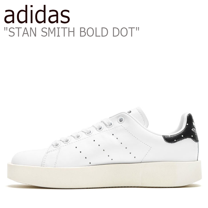good selling new appearance good out x Adidas Stan Smith sneakers adidas Lady's Stan Smith boldface dot STAN SMITH  BOLD DOT thickness bottom WHITE white BLACK black BA7771 shoes-free ...