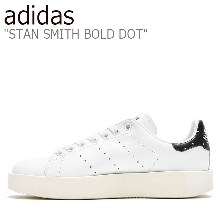 アディダス スタンスミス スニーカー adidas レディース スタン スミス ボールド ドット STAN SMITH BOLD DOT 厚底 WHITE ホワイト BLACK ブラック BA7771 シューズ 【中古】未使用品