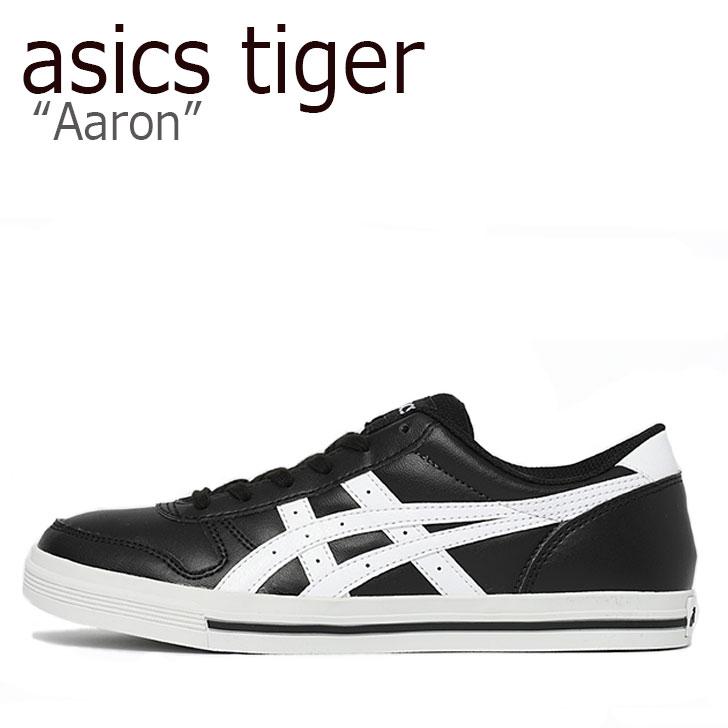 アシックスタイガー スニーカー asics tiger メンズ レディース Aaron アローン BLACK WHITE ブラック ホワイト 1201A007-002 シューズ