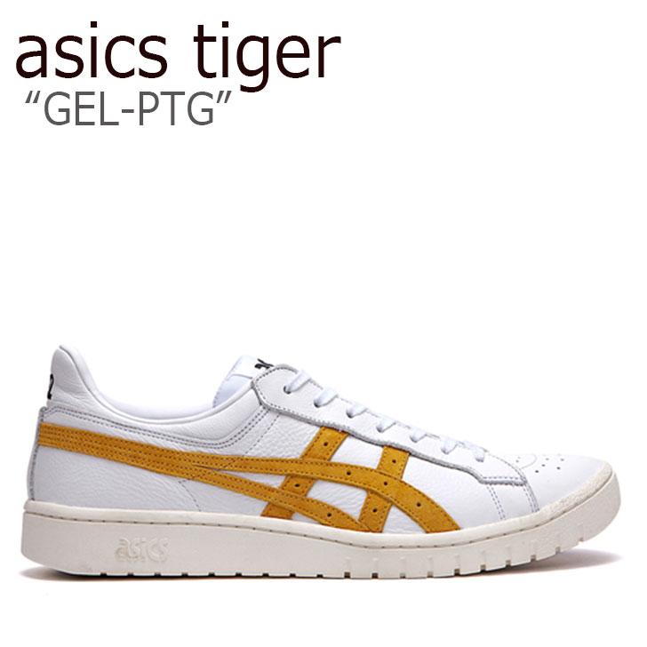 アシックスタイガー スニーカー asics tiger メンズ レディース GEL-PTG ゲルポイントゲッター WHITE YELLOW ホワイト イエロー FLAC9A1U12 シューズ