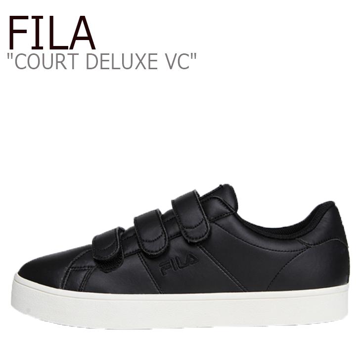 FILA COURT DELUXE VC/Black【フィラ】【コートデラックス】【ベルクロ】【F1XKZ0178】 シューズ