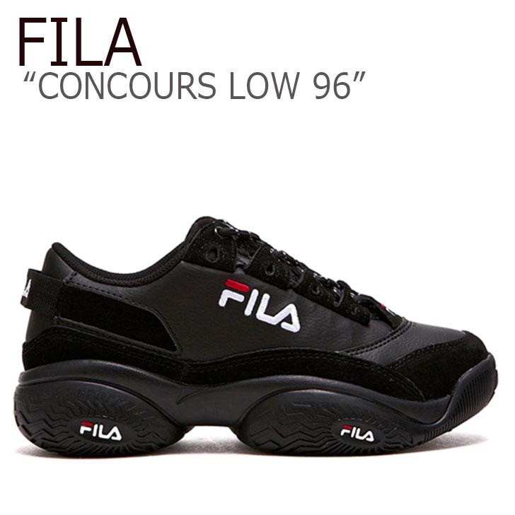 フィラ スニーカー FILA メンズ レディース CONCOURS LOW 96 コンクール ロウ 96 BLACK ブラック FLFL9A1X04 シューズ
