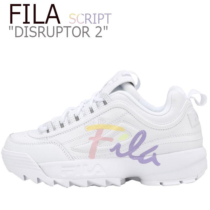 フィラ ディスラプター2 スニーカー FILA レディース DISRUPTOR 2 SCRIPT ディスラプター2 スクリプト WHIET ホワイト FS1HTB1192X FLFL9S1U20 FLFL9F3U20 シューズ