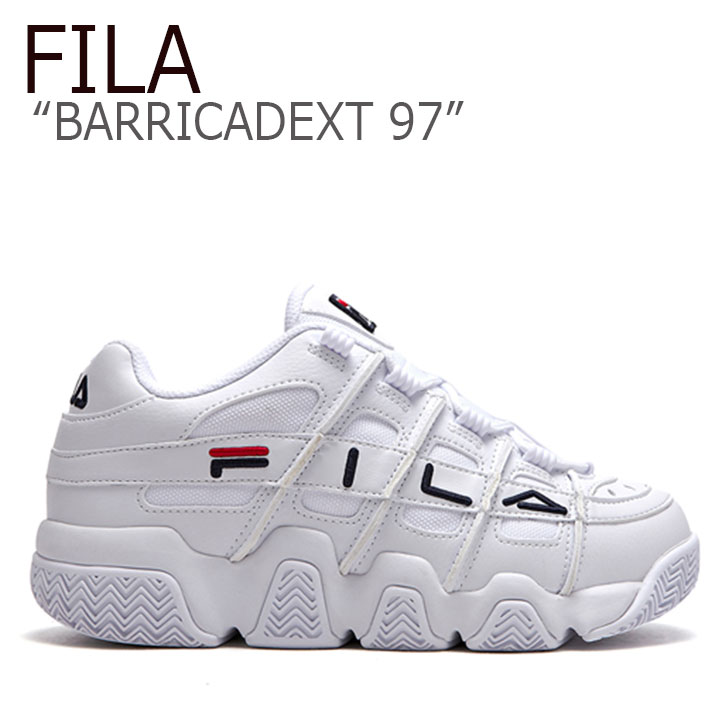 フィラ スニーカー FILA メンズ レディース BARRICADEXT 97 バリケードXT 97 WHITE ホワイト FLFL9A1U41 FLFL9S1U41 FS1HTB1051X シューズ