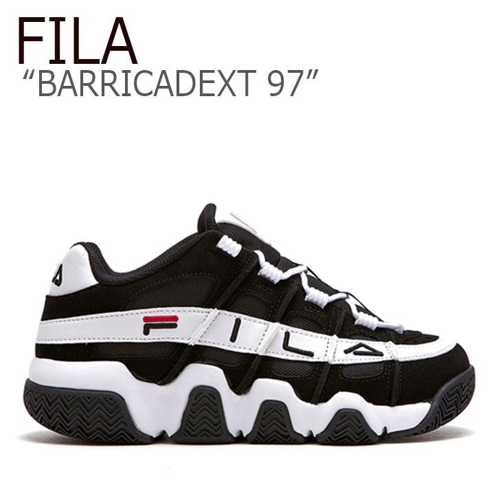 フィラ スニーカー FILA メンズ レディース BARRICADEXT 97 バリケードXT 97 BLACK WHITE ブラック ホワイト FLFL9S1U42 FS1HTB1053X FLFLAA1U42 シューズ