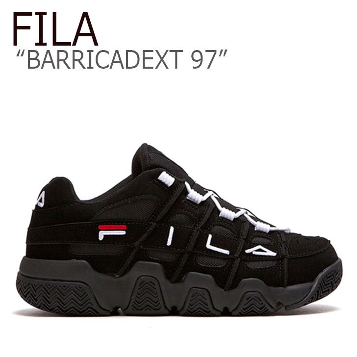 フィラ スニーカー FILA メンズ レディース BARRICADEXT 97 バリケードXT 97 BLACK ブラック FLFL9S1U43 FS1HTB1052X シューズ