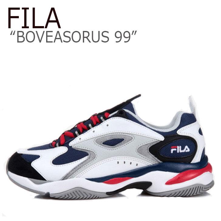 フィラ スニーカー FILA メンズ レディース BOVEASORUS 99 ボビアソラス99 WHITE NAVY RED ホワイト ネイビー レッド FS1HTA3051X シューズ