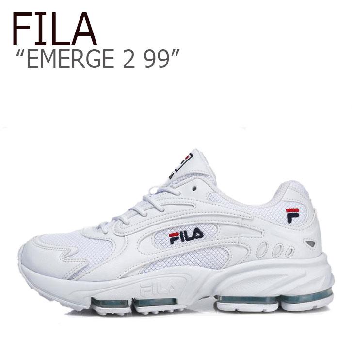 フィラ スニーカー FILA メンズ レディース EMERGE 2 99 イマージ2 99 WHITE ホワイト FS1HTB1011X シューズ