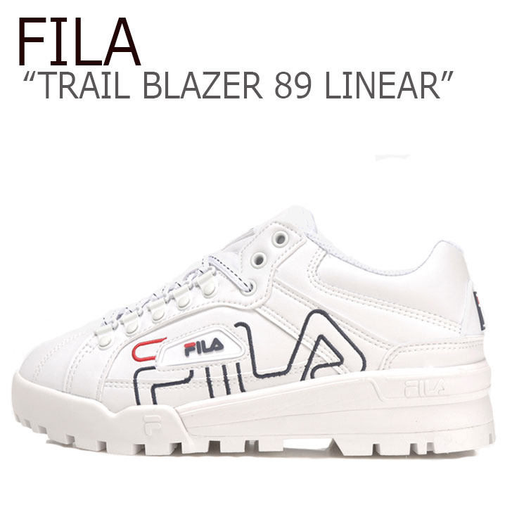 フィラ スニーカー FILA メンズ レディース TRAIL BLAZER 89 LINEAR トレイル ブレザー89 リニア― WHITE ホワイト FS1HTB1145X シューズ
