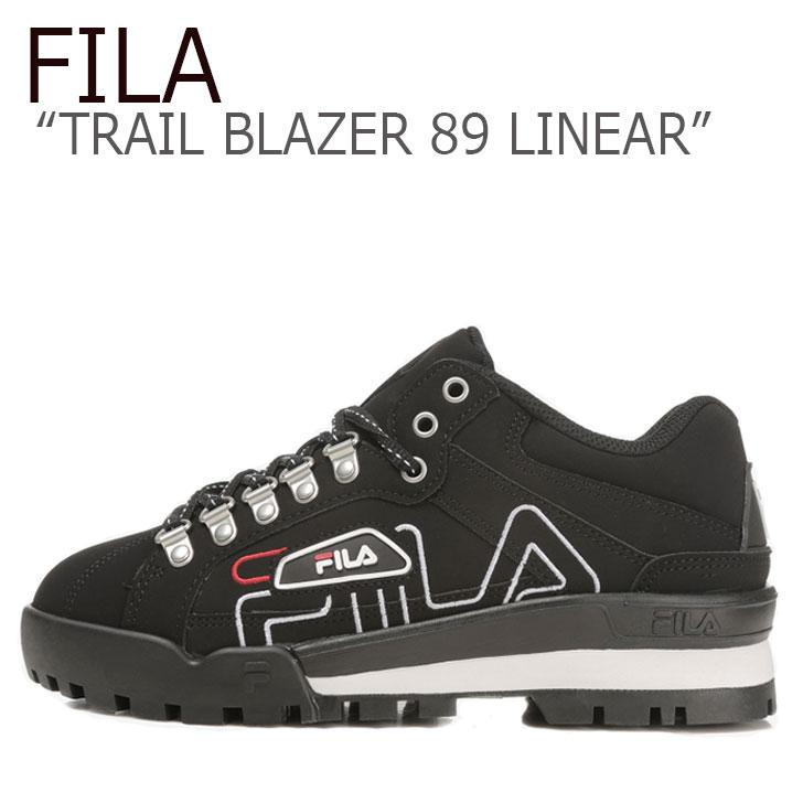 フィラ スニーカー FILA メンズ レディース TRAIL BLAZER 89 LINEAR トレイル ブレザー89 リニア― BLACK ブラック FS1HTB1146X シューズ