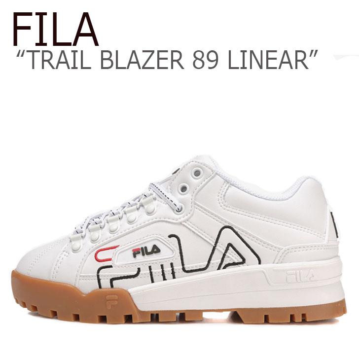フィラ スニーカー FILA メンズ レディース TRAIL BLAZER 89 LINEAR トレイル ブレザー89 リニア― WHITE BROWN ホワイト ブラウン FS1HTB1147X シューズ