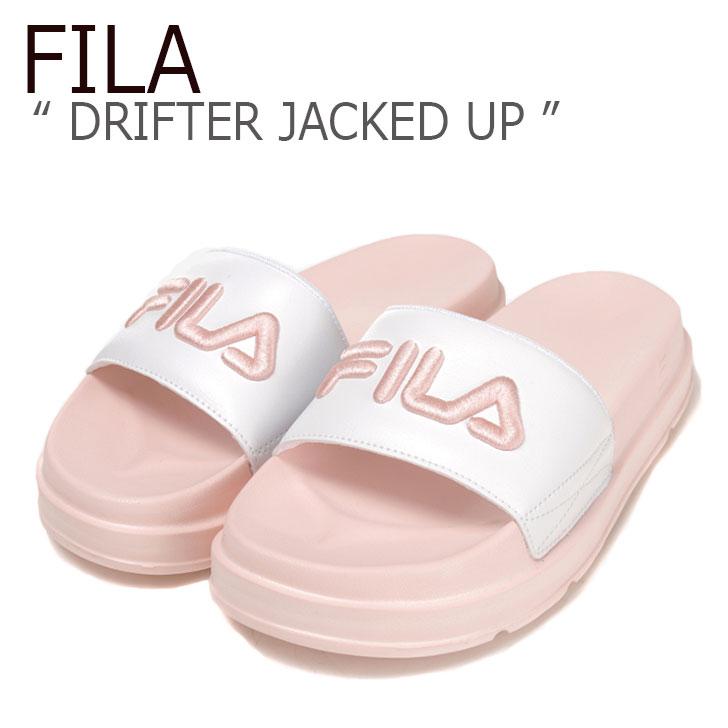 フィラ サンダル FILA レディース DRIFTER JACKED UP ドリフター ジャケットアップ WHITE PINK ホワイト ピンク FS1SLB1033X シューズ