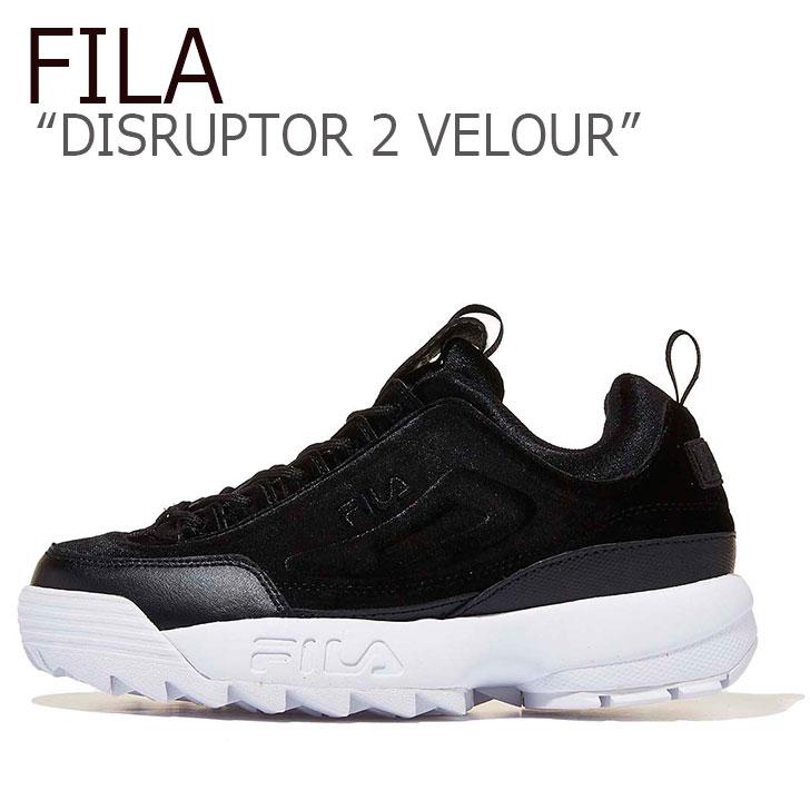 フィラ ディスラプター スニーカー FILA レディース DISRUPTOR 2 VELOUR ディスラプター2 ベロア BLACK ブラック FS1HTA3421X シューズ