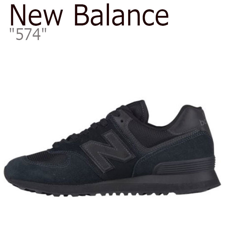 New Balance sneakers NEW BALANCE 574 New Balance 574 men's lady's BLACK black ML574ETE shoes free article