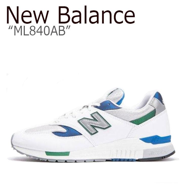 ニューバランス 840 スニーカー New Balance メンズ レディース ML 840 AB New Balance840 WHITE ホワイト ML840AB シューズ 【中古】未使用品