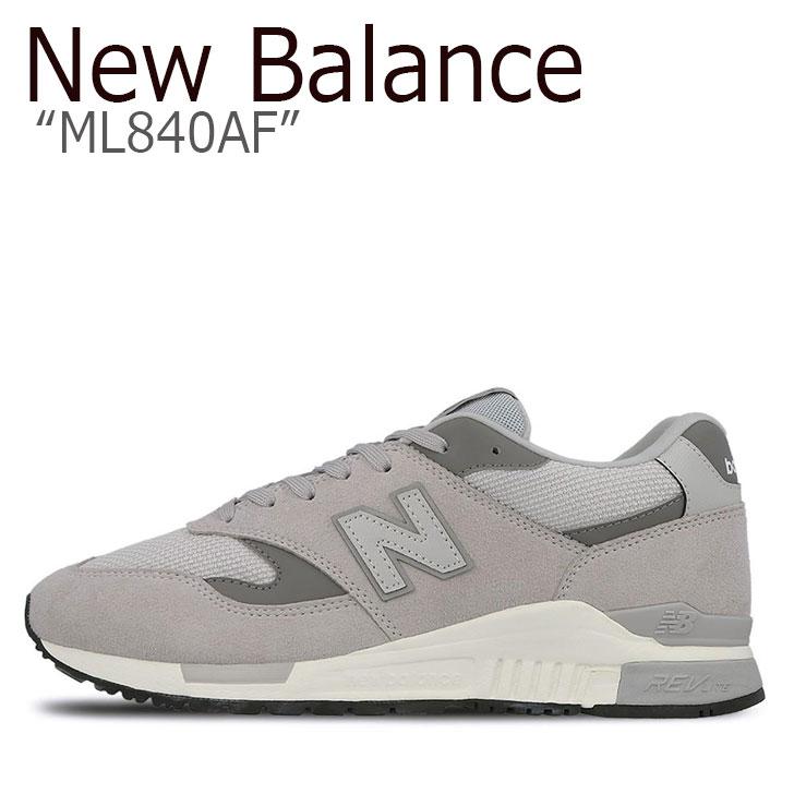 ニューバランス 840 スニーカー New Balance メンズ レディース ML 840 AF New Balance840 GRAY グレー ML840AF シューズ 【中古】未使用品