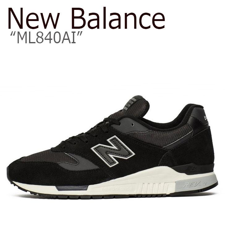 ニューバランス 840 スニーカー New Balance メンズ レディース ML 840 AI New Balance840 black ブラック ML840AI シューズ 【中古】未使用品
