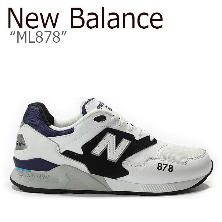 ニューバランス 878 スニーカー New Balance メンズ レディース ML 878 New Balance878 WHITE ホワイト ML878AAA シューズ 【中古】未使用品
