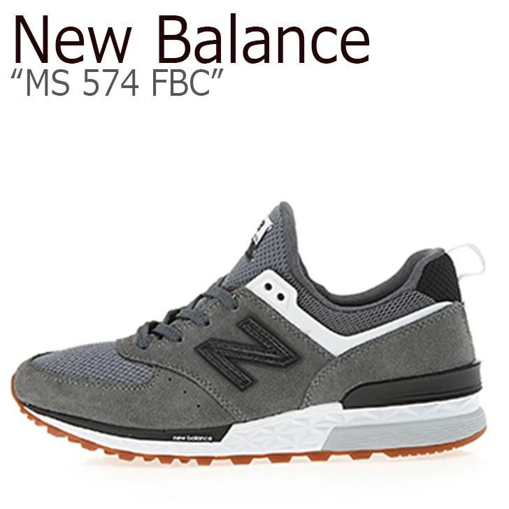 ニューバランス 574 スニーカー New Balance メンズ レディース MS 574 FBC New Balance574 GREY グレー MS574FBC シューズ 【中古】未使用品