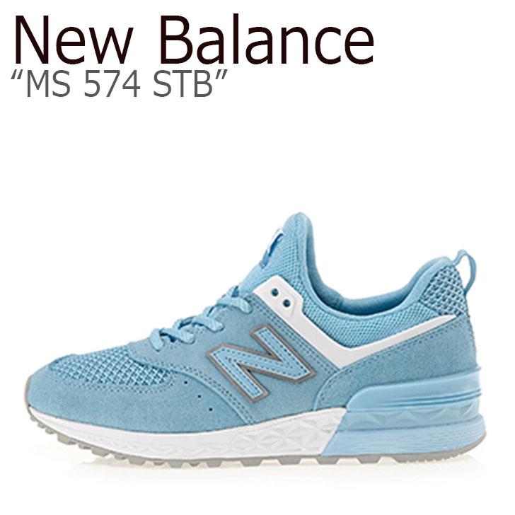 ニューバランス 574 スニーカー New Balance レディース MS 574 STB New Balance574 BLUE ブルー MS574STB シューズ 【中古】未使用品