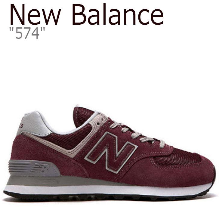 ニューバランス 574 スニーカー NEW BALANCE レディース new balance 574 RED レッド WL574EN シューズ 【中古】未使用品