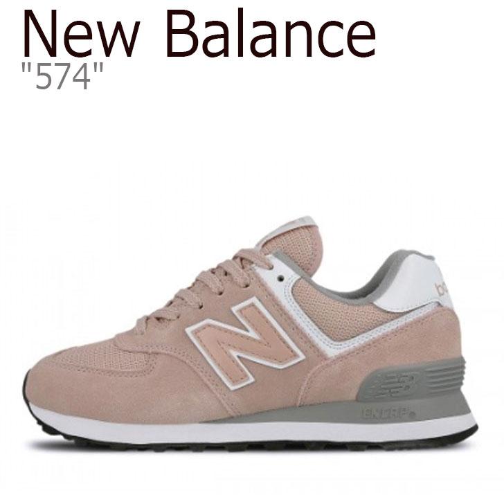 ニューバランス スニーカー NEW BALANCE レディース new balance 574 ピンク ピンク WL574UNC シューズ 【中古】未使用品