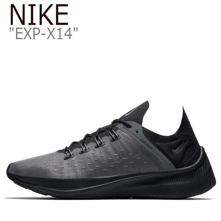 ナイキ スニーカー NIKE メンズ EXP-X14 ナイキEXP-X14 BLACK ブラック GREY グレー AO1554-004 シューズ 【中古】未使用品