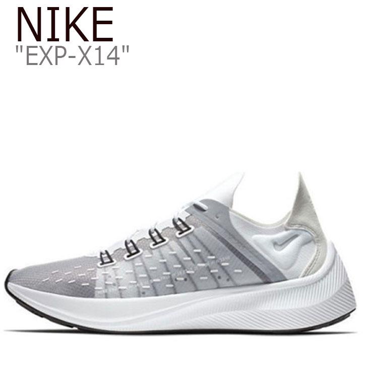 ナイキ スニーカー NIKE メンズ EXP-X14 ナイキEXP-X14 WHITE ホワイト GREY グレー AO1554-100 シューズ 【中古】未使用品