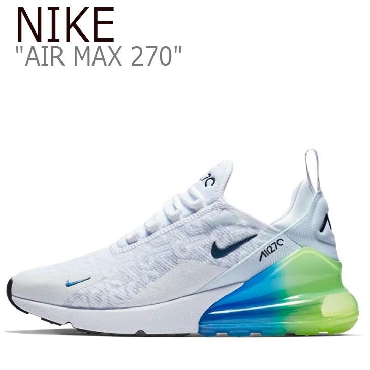 ナイキ エアマックス270 スニーカー NIKE メンズ AIR MAX 270 SE ナイキ エアマックス 270 SE WHITE ホワイト AQ9164-100 シューズ 【中古】未使用品