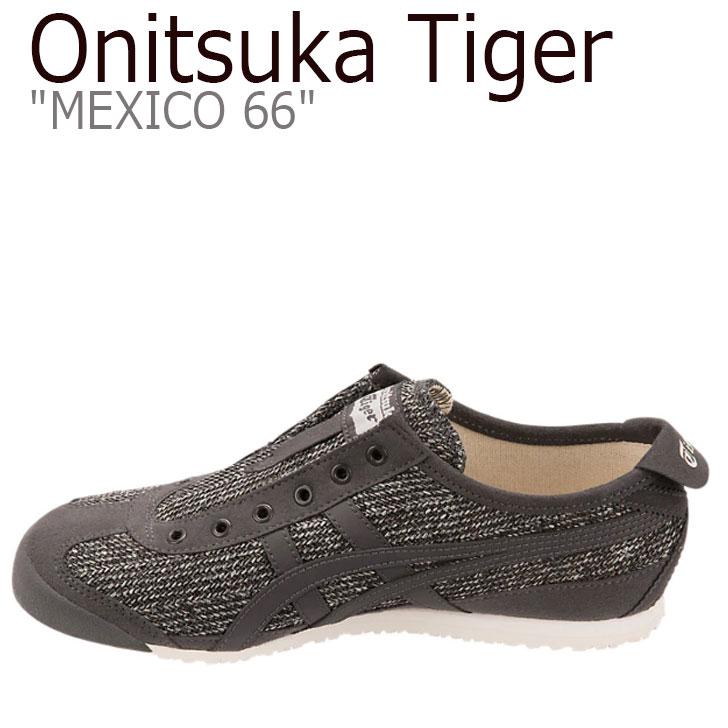 オニツカタイガー メキシコ 66 スニーカー Onitsuka Tiger レディース MEXICO 66 SLIP-ON メキシコ 66 スリッポン BLACK ブラック 1182A046-002 シューズ