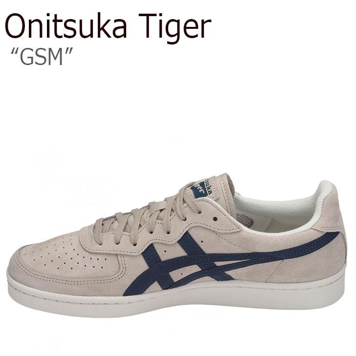 オニツカタイガー スニーカー Onitsuka Tiger メンズ レディース GSM ジーエスエム FEATHER GREY DARK BLUE フェザーグレー ダークブルー D5K1L-1249 シューズ