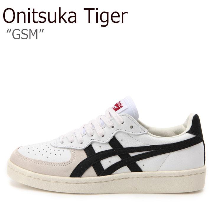 オニツカタイガー スニーカー Onitsuka Tiger メンズ レディース GSM ジーエスエム WHITE BLACK ホワイト ブラック D5K2Y-0190 シューズ