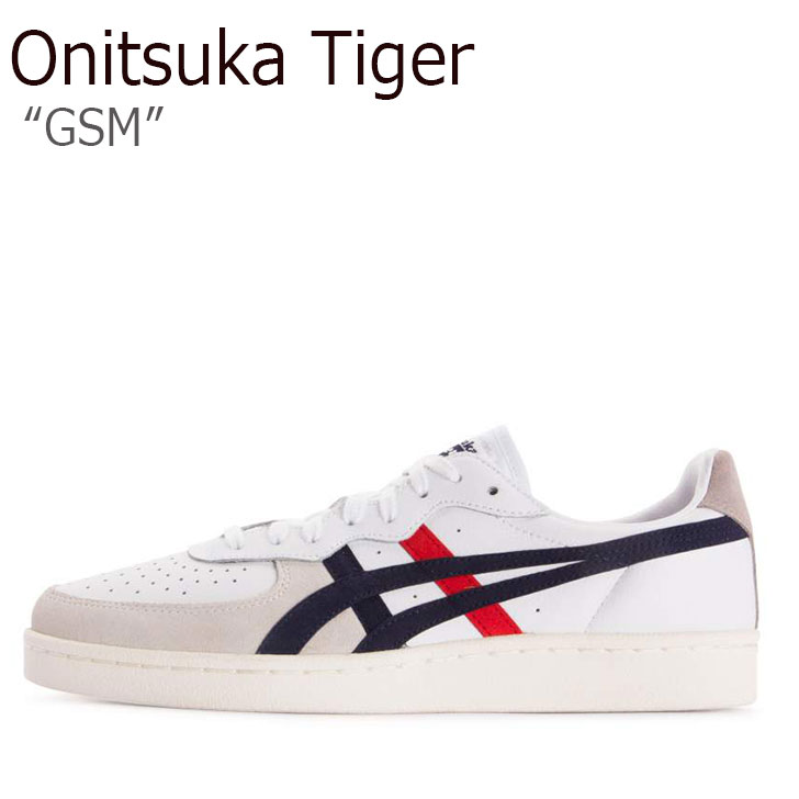 オニツカタイガー スニーカー Onitsuka Tiger メンズ レディース GSM ジーエスエム WHITE PEACOAT ホワイト ペアコート D5K2Y-100 シューズ