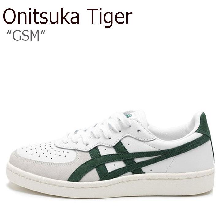 オニツカタイガー スニーカー Onitsuka Tiger メンズ レディース GSM ジーエスエム WHITE HUNTER GREEN ホワイト ハンターグリーン D5K2Y-101 シューズ