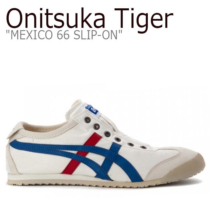 オニツカタイガー スニーカー Onitsuka Tiger メンズ レディース MEXICO 66 SLIP-ON メキシコ66 スリッポン White Tricolor ホワイト トリコロール D3K0N-0143 シューズ