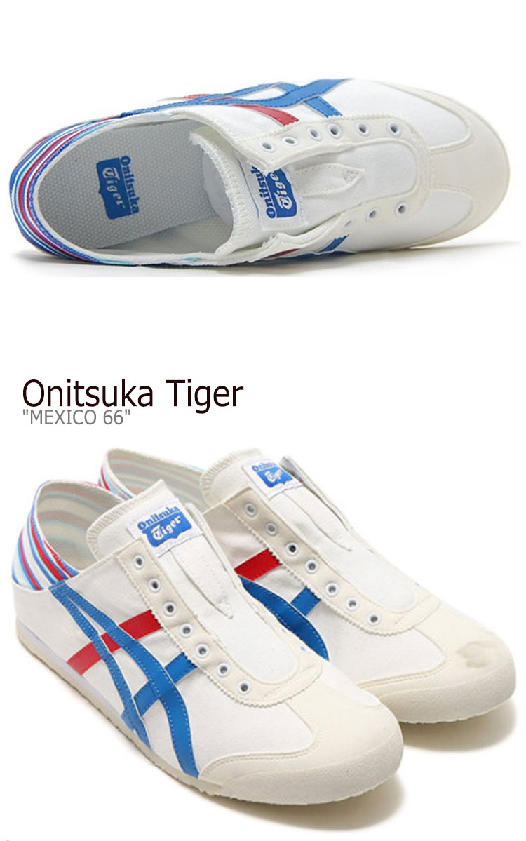 more photos 94003 907a9 Onitsuka tiger Mexico 66 sneakers Onitsuka Tiger men gap Dis MEXICO 66  PARATY Mexico 66 パラティ WHITE white CLASSIC BLUE classical music blue  TH6P4N-0142 ...