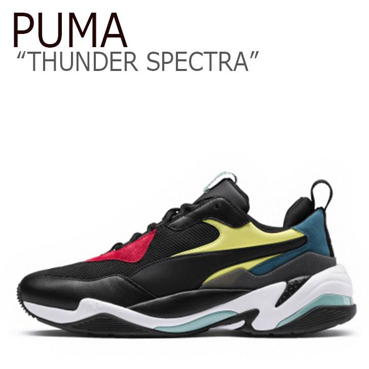 プーマ スニーカー PUMA メンズ レディース THUNDER SPECTRA サンダー スペクトラ BLACK ブラック 36751601 シューズ 【中古】未使用品