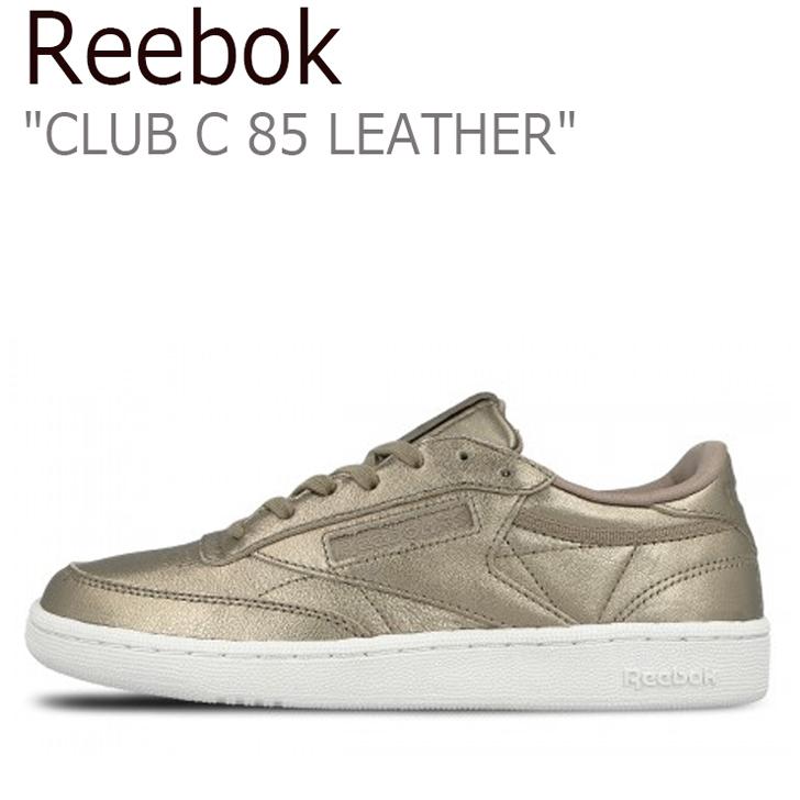 リーボック スニーカー Reebok メンズ レディース CLUB C 85 LEATHER クラブ シー 85 レザー チャンピョン Pearl Met Grey Gold White ペールメット グレーゴールド BS7901 シューズ