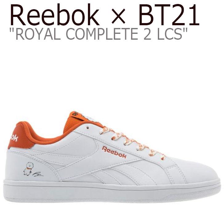 リーボック ロイヤルコンプリート スニーカー REEBOK メンズ レディース ROYAL COMPLETE 2LCS ロイヤル コンプリート 2LCS X BT21 RJ アールジェイ WHITE ホワイト ORANGE オレンジ DV8897 シューズ
