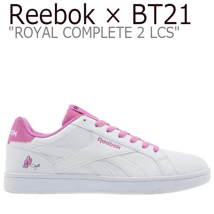 リーボック ロイヤルコンプリート スニーカー REEBOK メンズ レディース ROYAL COMPLETE 2LCS ロイヤル コンプリート 2LCS X BT21 COOKY クキ WHITE ホワイト PINK ピンク DV8901 シューズ
