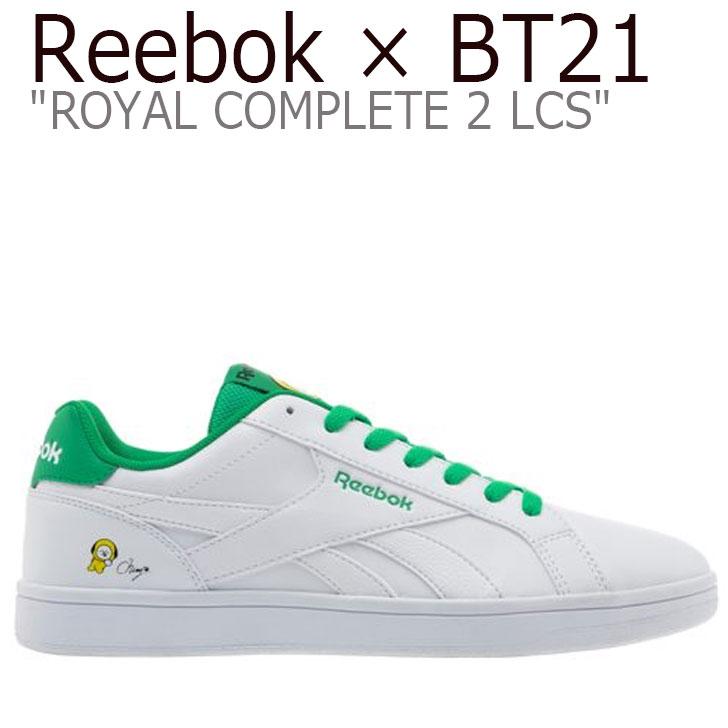 リーボック ロイヤルコンプリート スニーカー REEBOK メンズ レディース ROYAL COMPLETE 2LCS ロイヤル コンプリート 2LCS X BT21 CHIMMY チミ WHITE ホワイト GREEN グリーン YELLOW イエロー DV8902 シューズ
