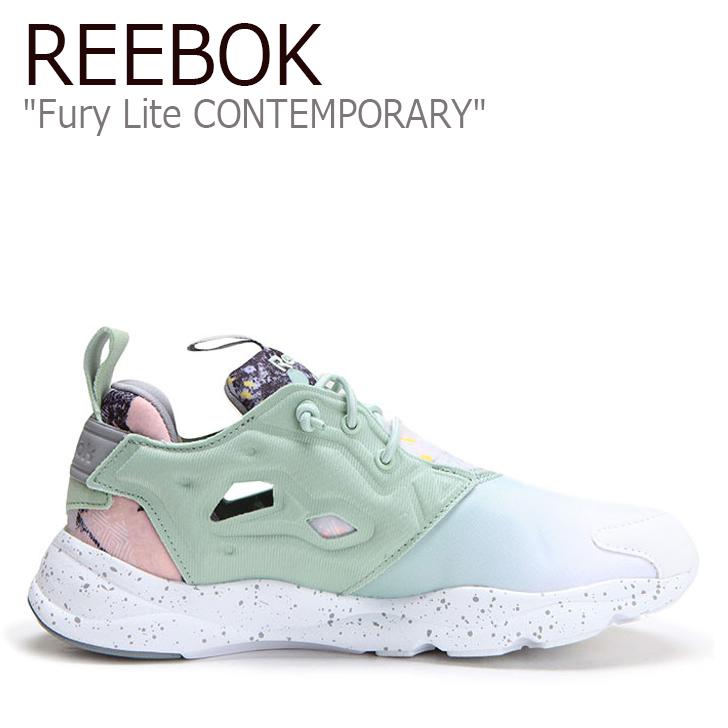 Reebok Fury Lite CONTEMPORARY SAGE MIST/白い/TIN グレー【リーボック】【フューリーライト】【V69636】 シューズ