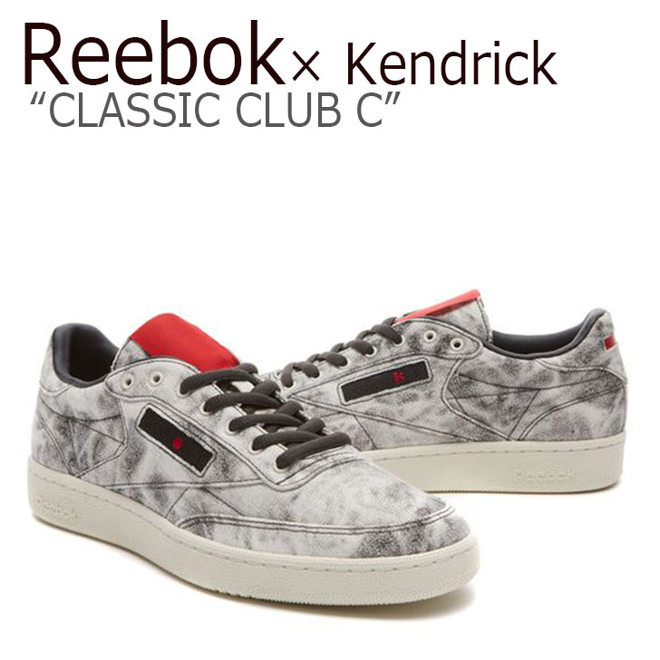 Reebok × Kendrick Lamar/Classic CLUB C/WHITE/COAL/SCARLET【リーボック】【クラブC】【BS8205】 シューズ