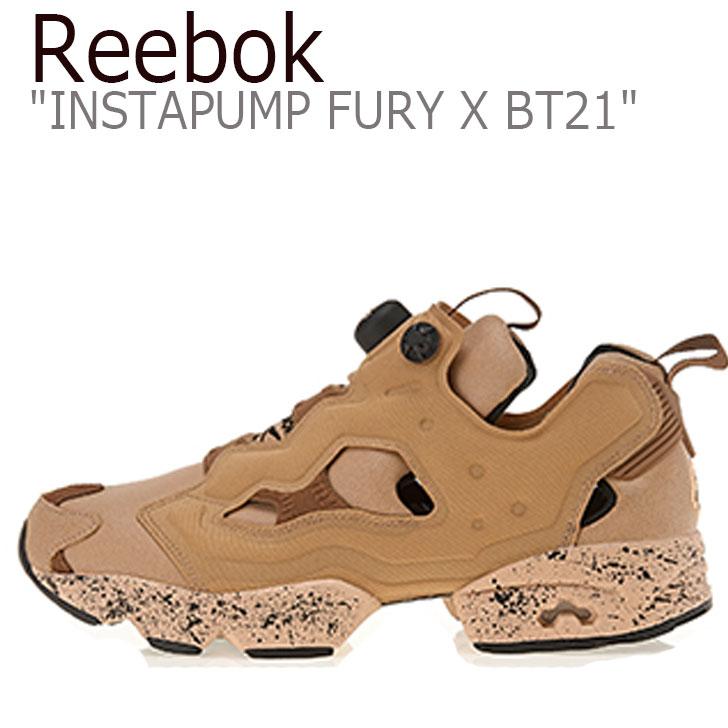 リーボック ポンプフューリー スニーカー REEBOK X BT21 メンズ レディース INSTAPUMP FURY OG TXT インスタポンプ フューリー オリジナル TXT SHOOKY ショキー BROWN ブラウン RBKDV9875 シューズ