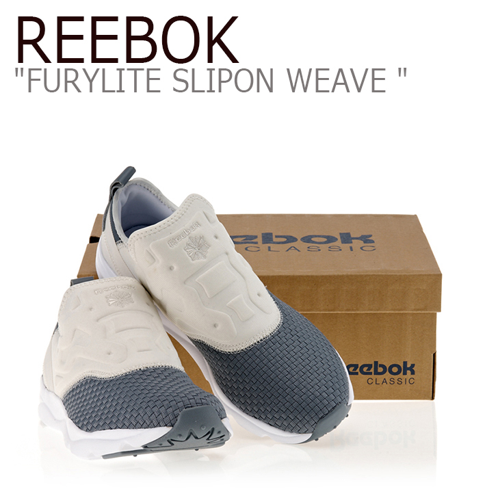 Reebok FURYLITE SLIPON WEAVE ASTEROID DUST/WHITE 【リーボック】【フューリーライト】【スリッポン】BD1430 シューズ